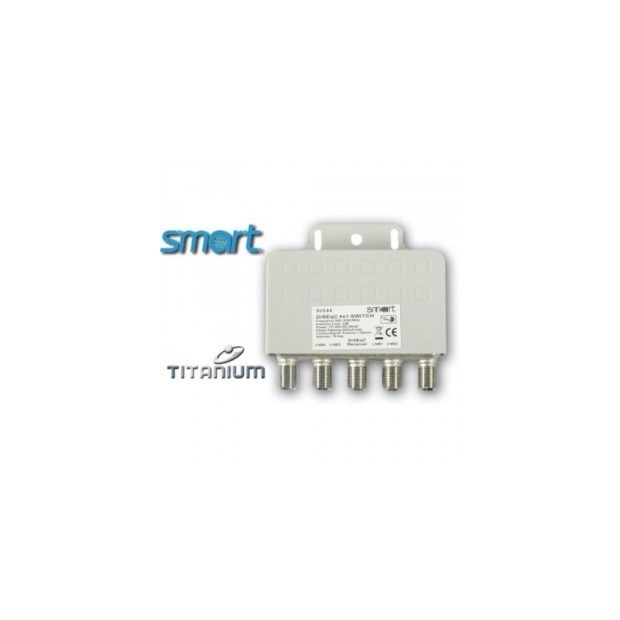 Smart Titanium SUS 44 - DiSEqC 4x1 Switch - fungerar perfekt med dreambox